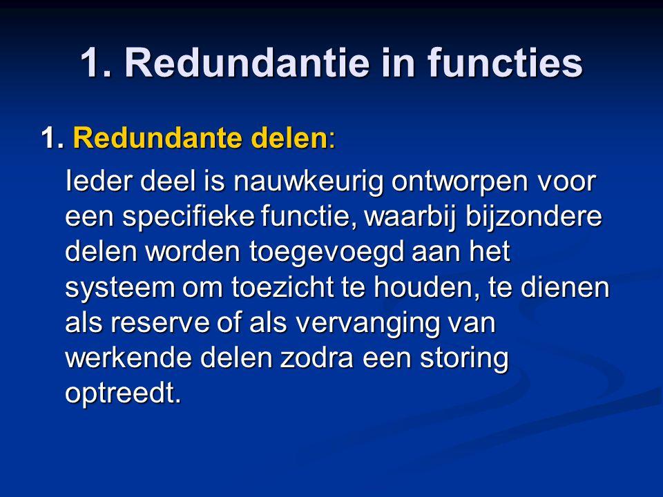 1. Redundantie in functies