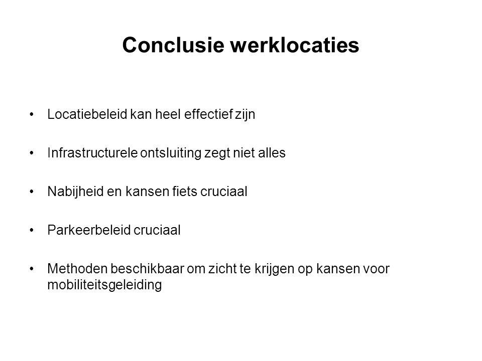 Conclusie werklocaties