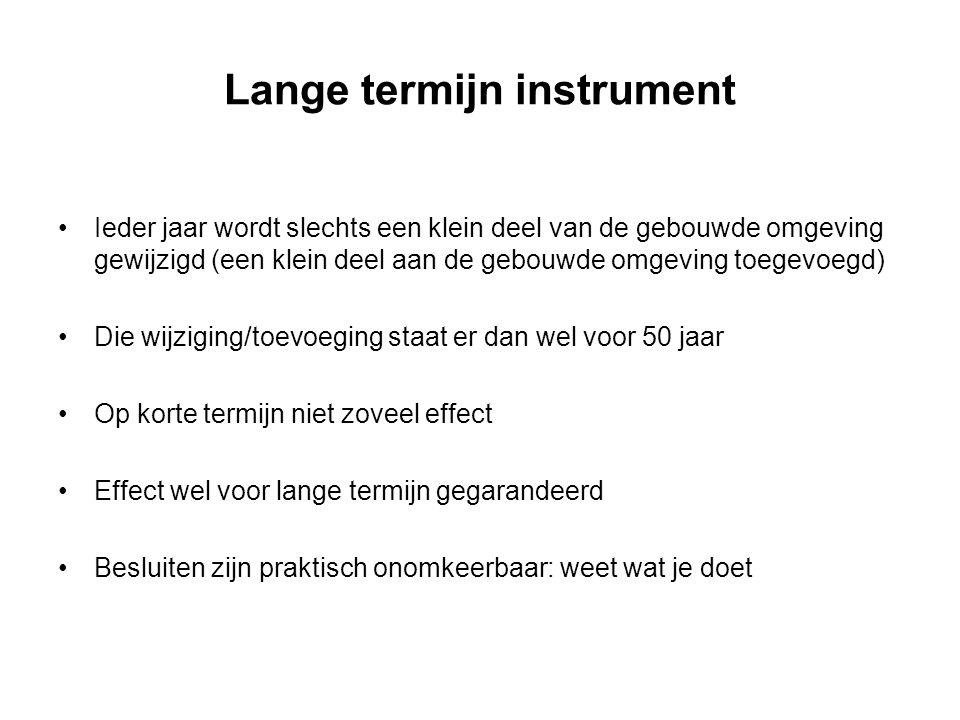 Lange termijn instrument