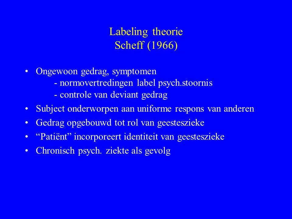 Labeling theorie Scheff (1966)