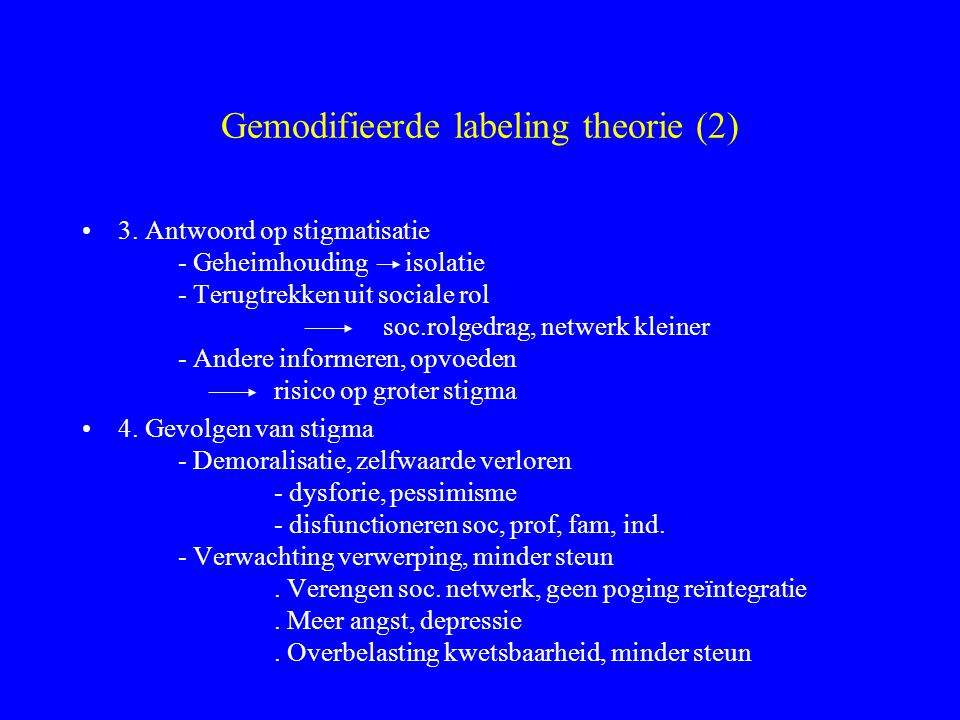 Gemodifieerde labeling theorie (2)