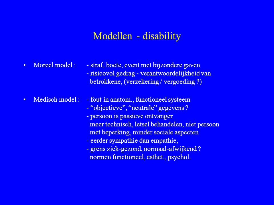Modellen - disability