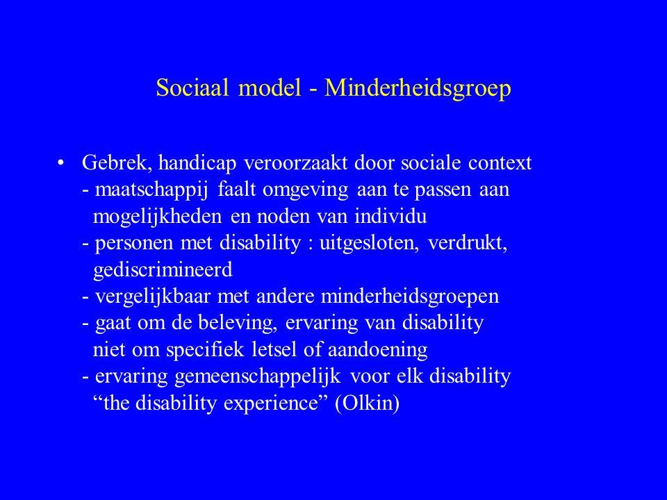 Sociaal model - Minderheidsgroep