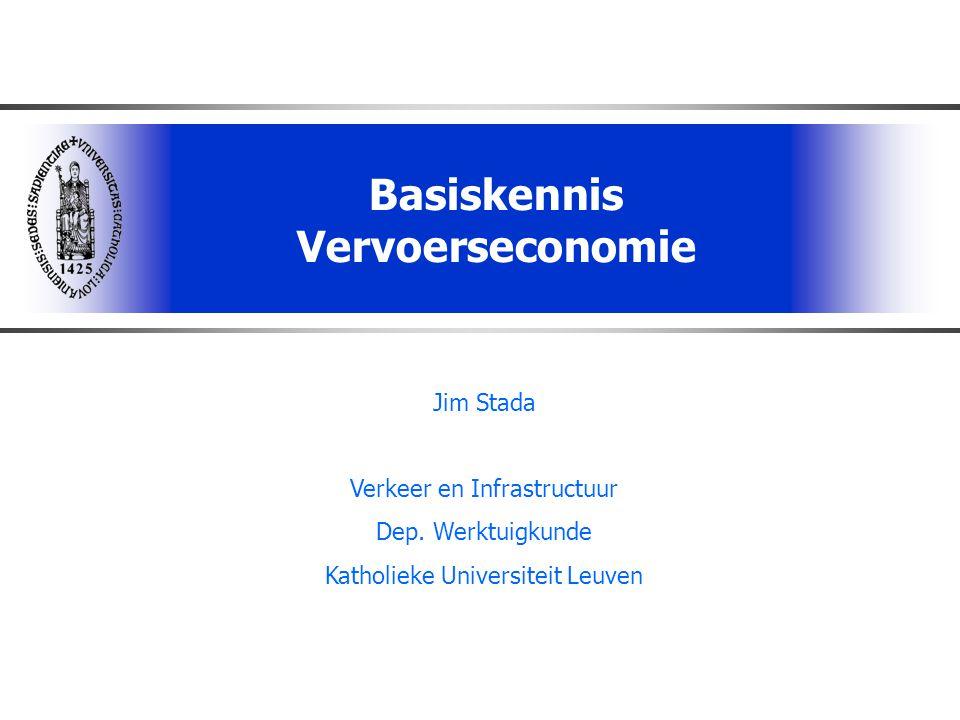 Basiskennis Vervoerseconomie
