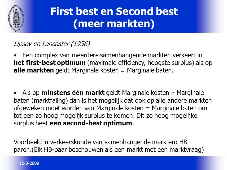 First best en Second best (meer markten)