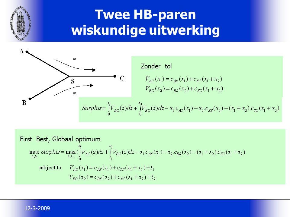 Twee HB-paren wiskundige uitwerking