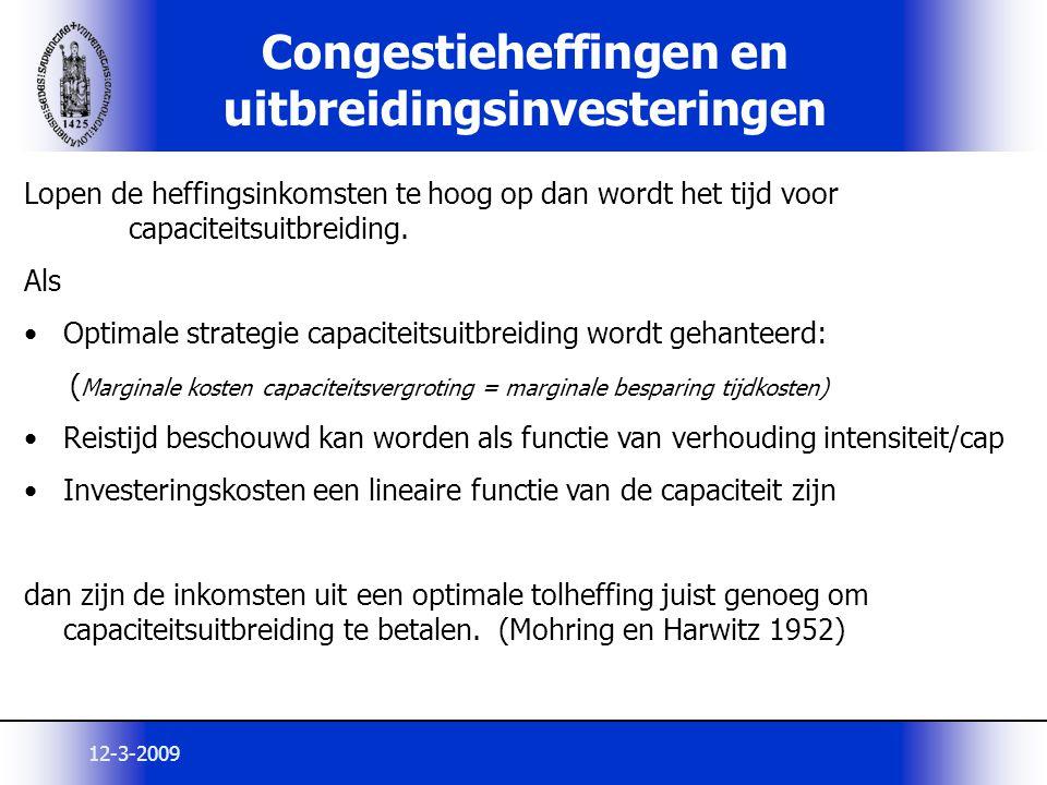 Congestieheffingen en uitbreidingsinvesteringen