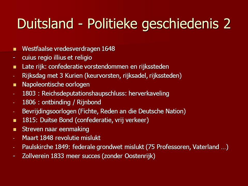 Duitsland - Politieke geschiedenis 2
