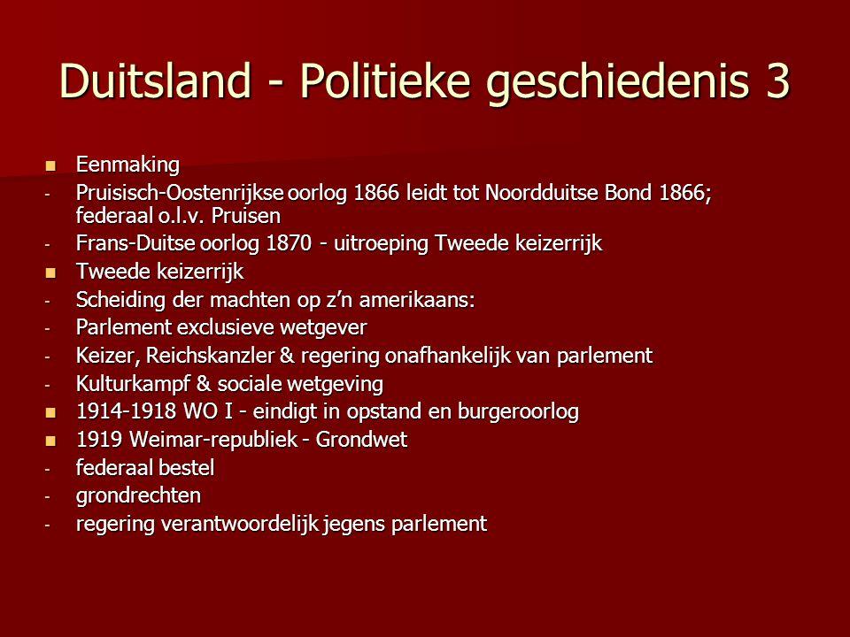 Duitsland - Politieke geschiedenis 3