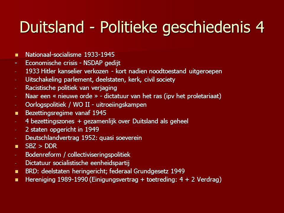Duitsland - Politieke geschiedenis 4