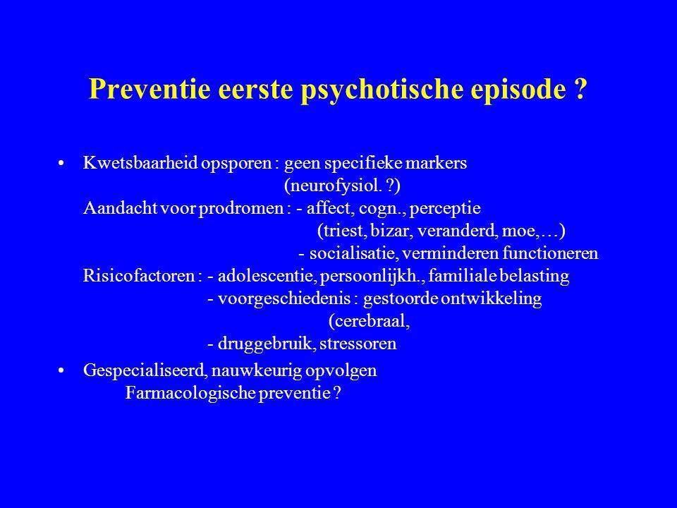 Preventie eerste psychotische episode