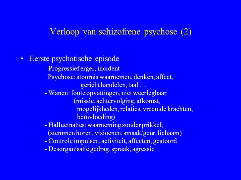 Verloop van schizofrene psychose (2)