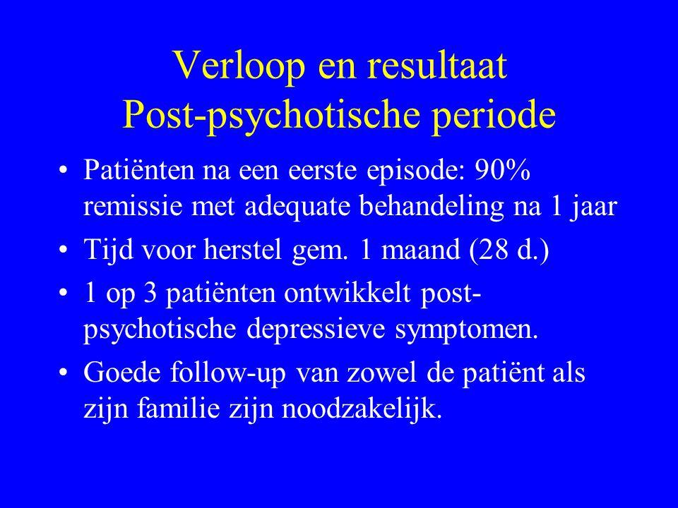 Verloop en resultaat Post-psychotische periode