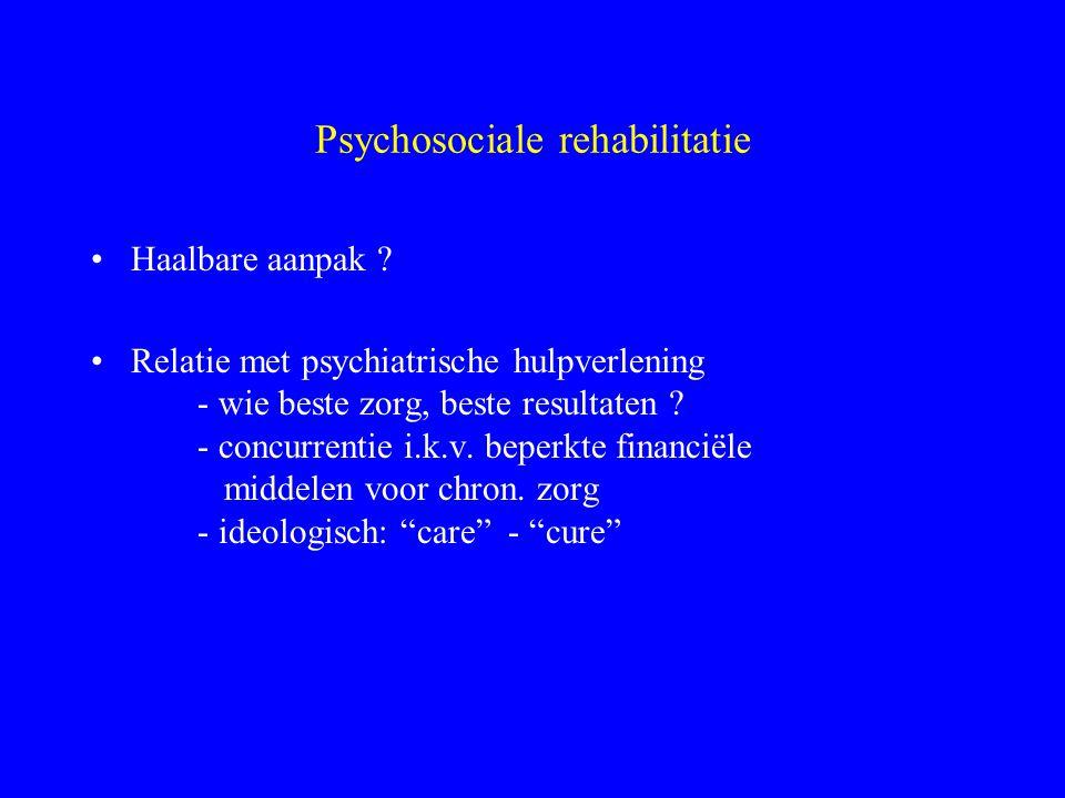Psychosociale rehabilitatie