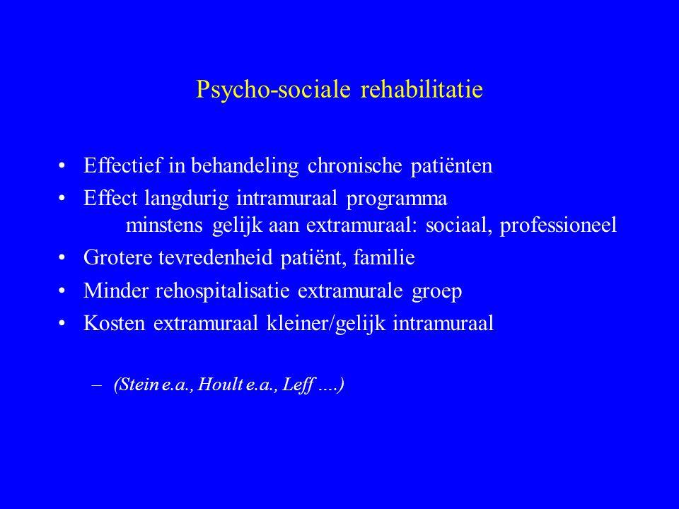 Psycho-sociale rehabilitatie