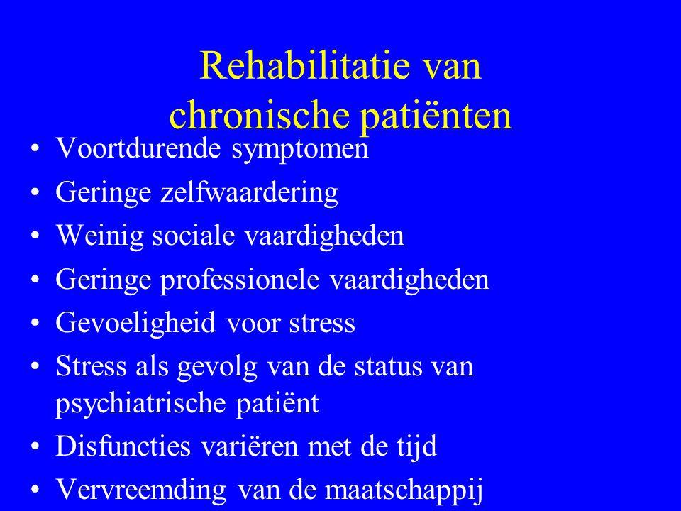 Rehabilitatie van chronische patiënten