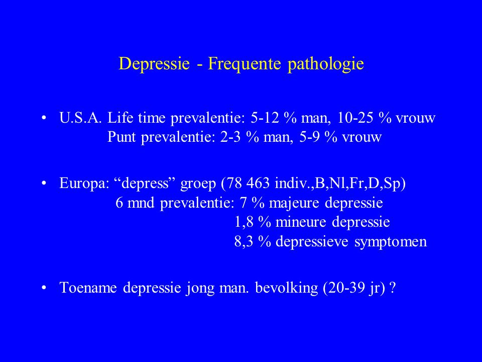 Depressie - Frequente pathologie