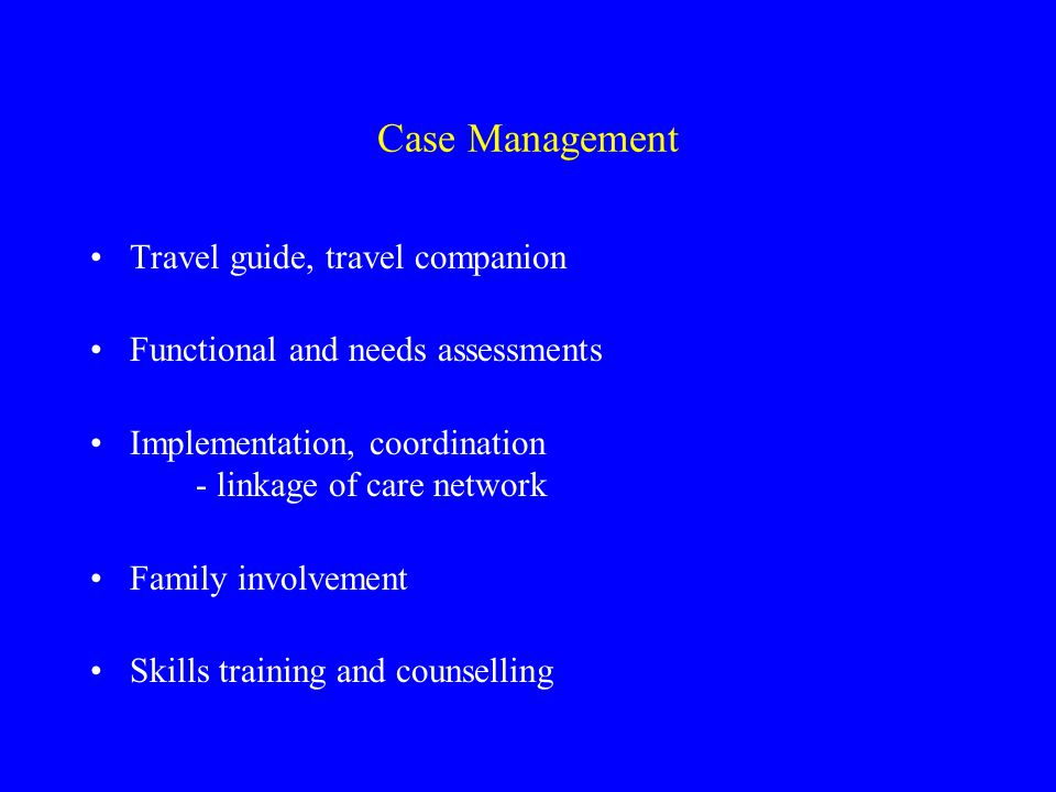 Case Management Travel guide, travel companion