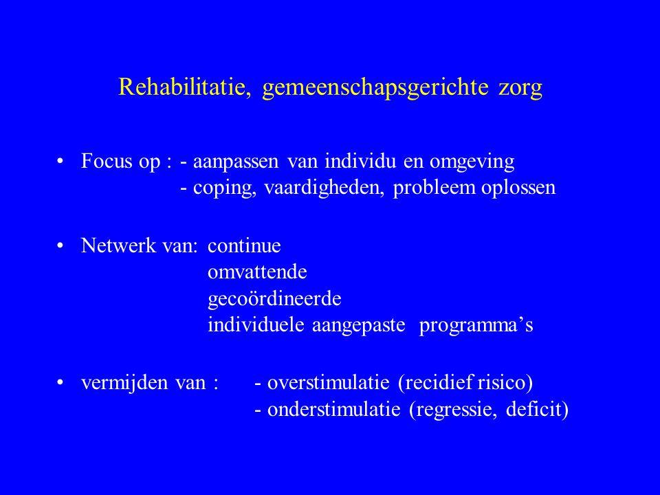 Rehabilitatie, gemeenschapsgerichte zorg