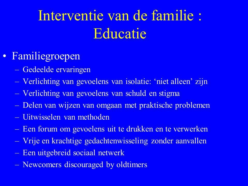 Interventie van de familie : Educatie