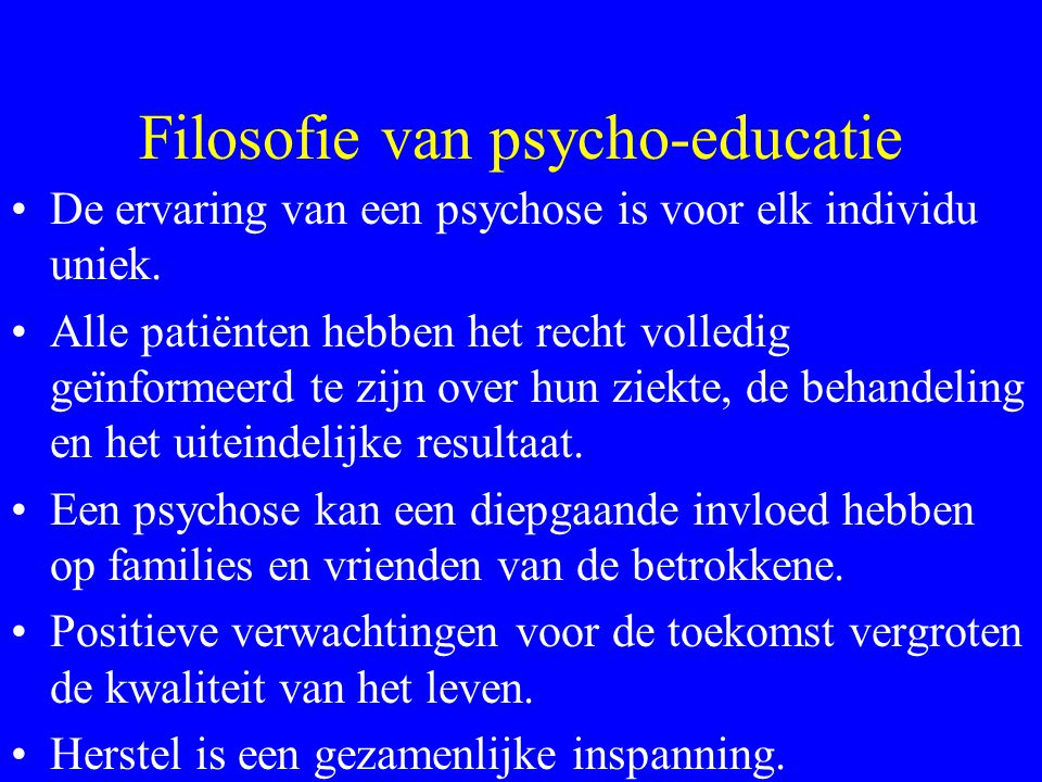 Filosofie van psycho-educatie