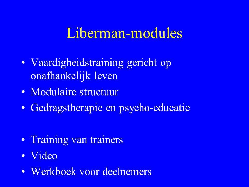 Liberman-modules Vaardigheidstraining gericht op onafhankelijk leven