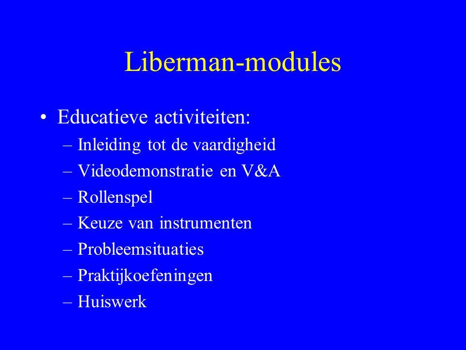 Liberman-modules Educatieve activiteiten: Inleiding tot de vaardigheid