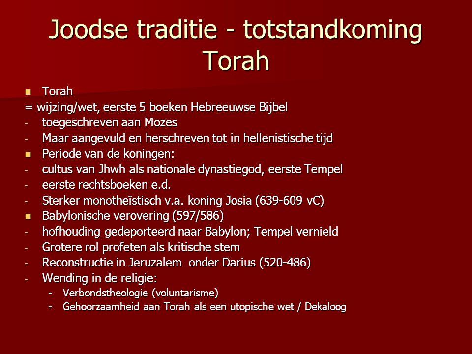 Joodse traditie - totstandkoming Torah