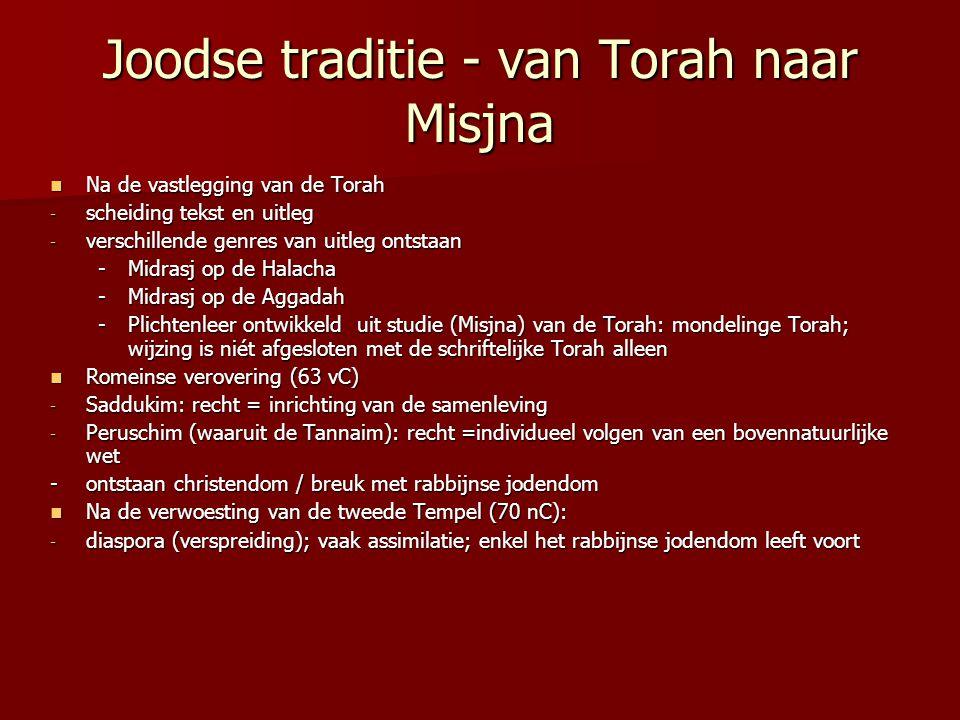 Joodse traditie - van Torah naar Misjna