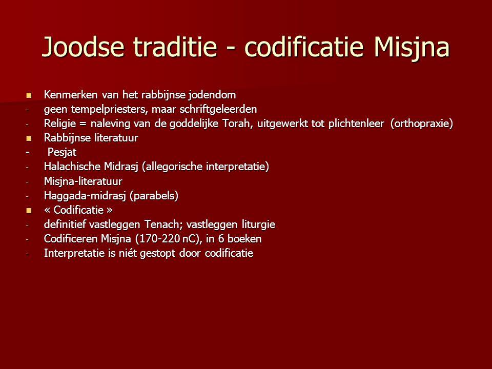 Joodse traditie - codificatie Misjna