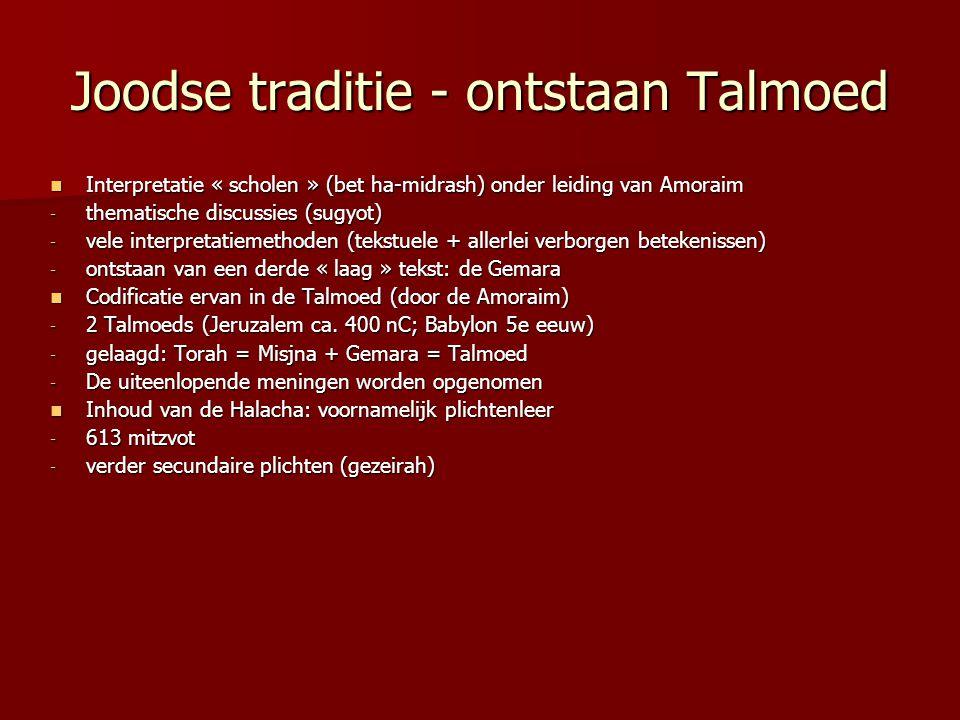 Joodse traditie - ontstaan Talmoed