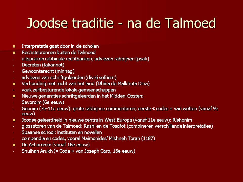 Joodse traditie - na de Talmoed