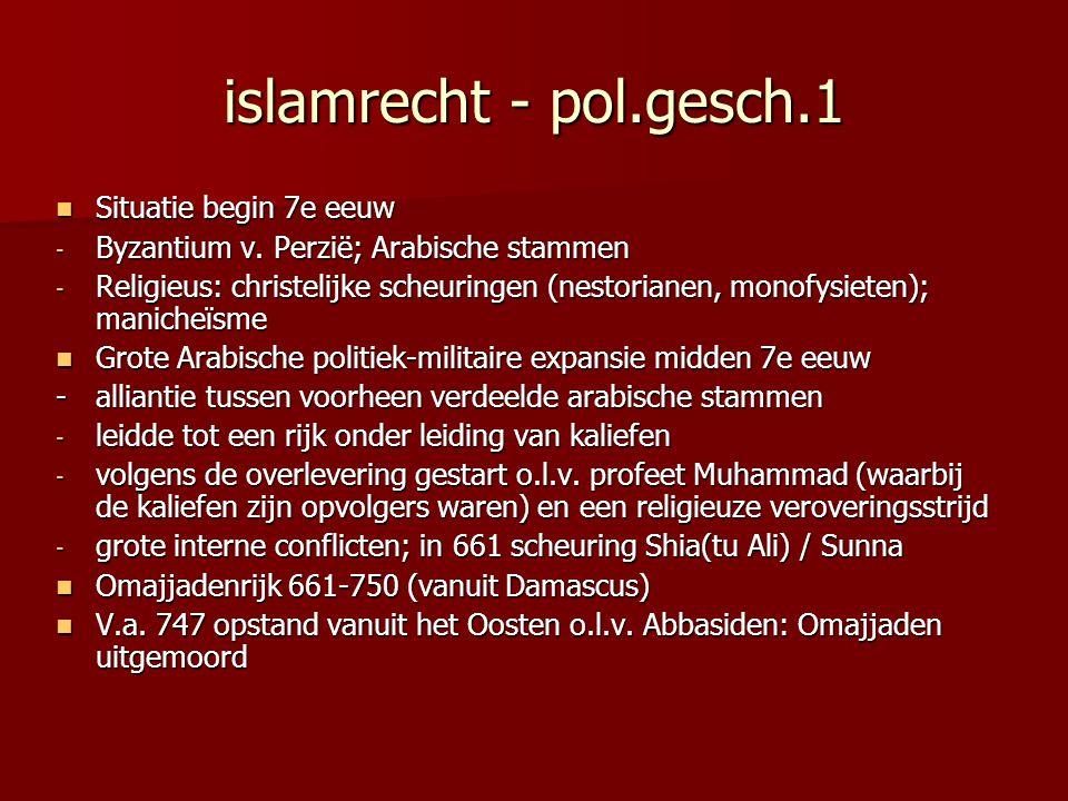 islamrecht - pol.gesch.1 Situatie begin 7e eeuw