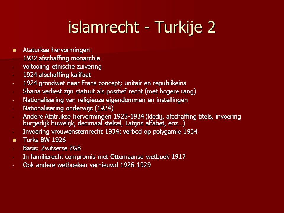 islamrecht - Turkije 2 Ataturkse hervormingen: