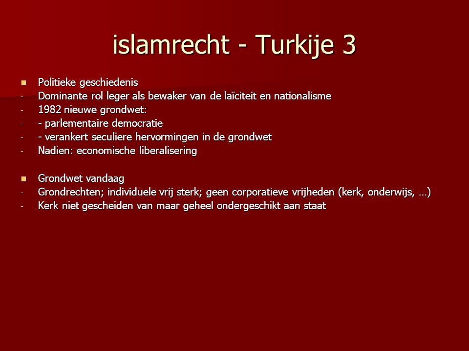 islamrecht - Turkije 3 Politieke geschiedenis