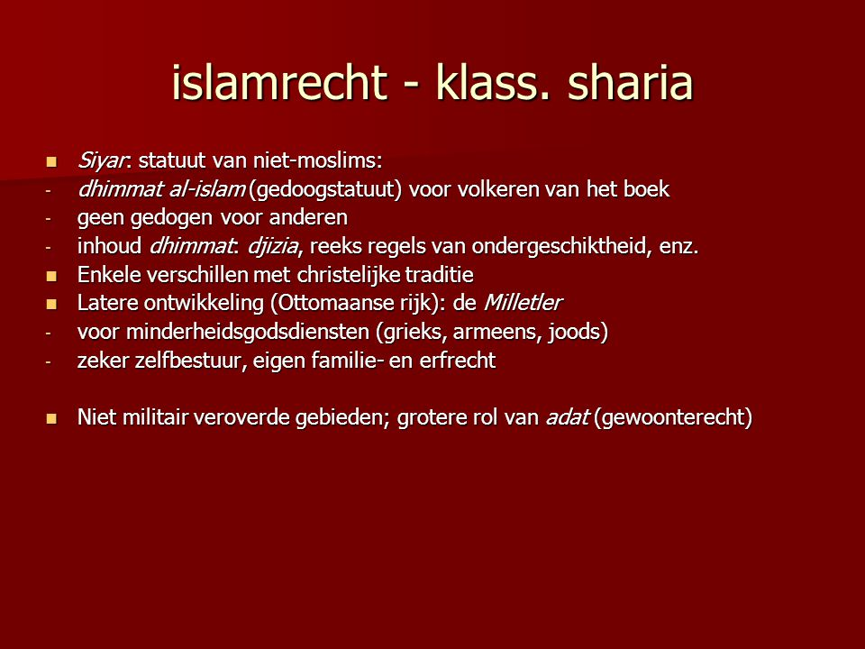 islamrecht - klass. sharia