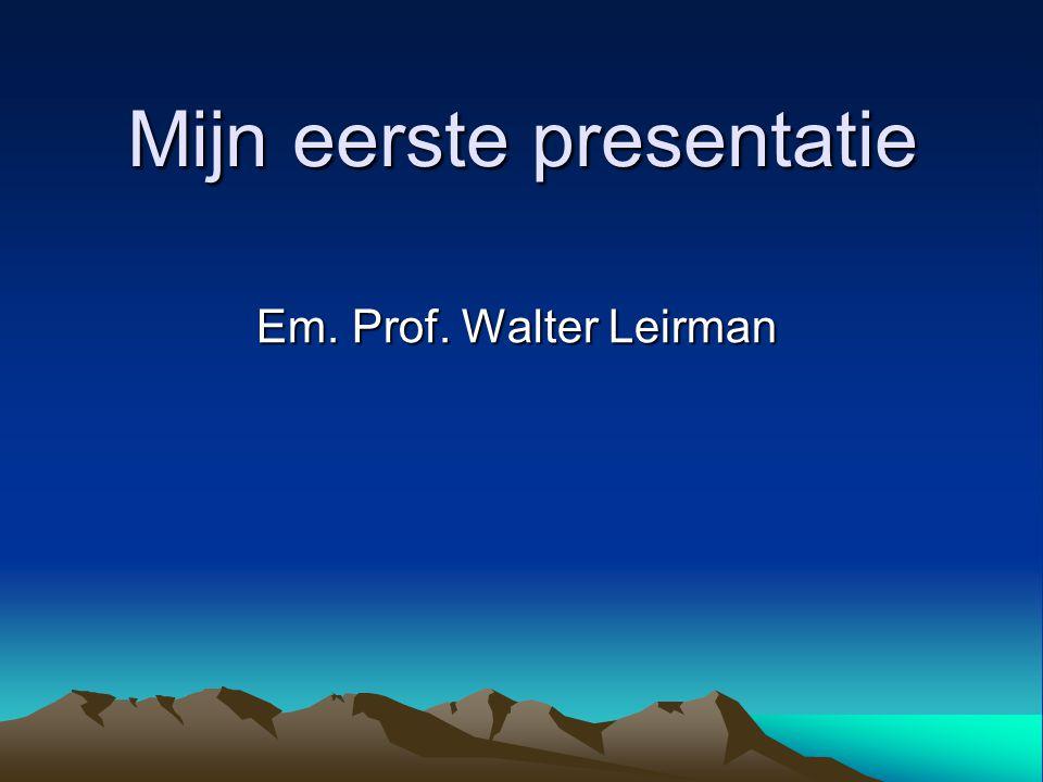 Mijn eerste presentatie