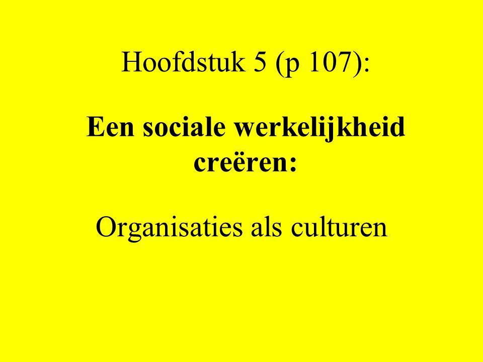 Een sociale werkelijkheid creëren: