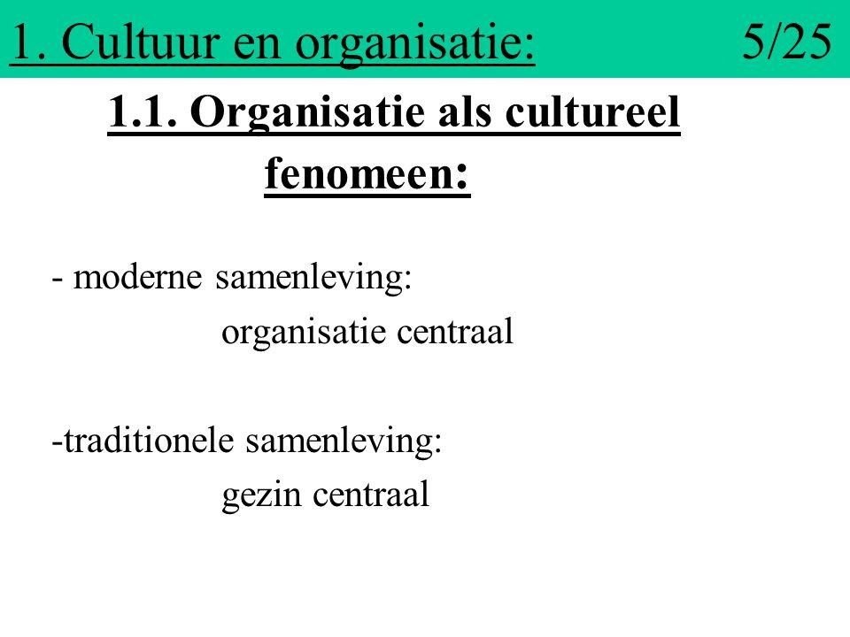 1. Cultuur en organisatie: 5/25