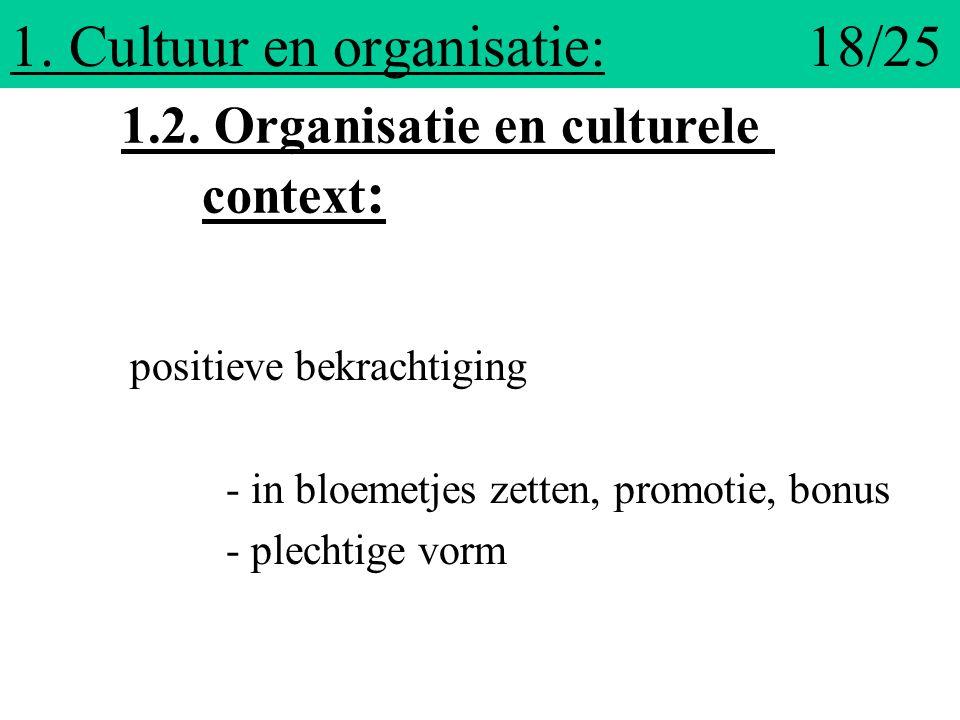 1. Cultuur en organisatie: 18/25
