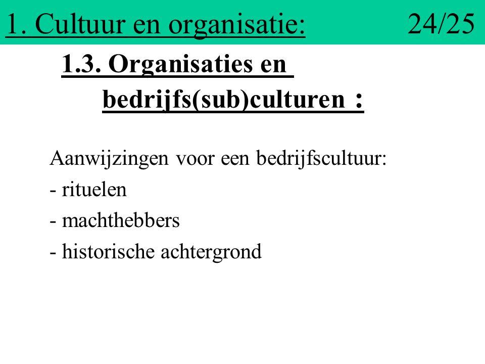 1. Cultuur en organisatie: 24/25