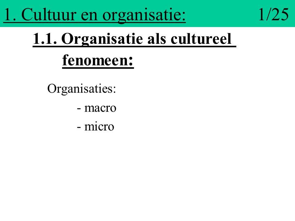 1. Cultuur en organisatie: 1/25