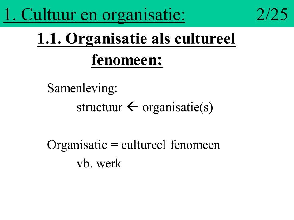 1. Cultuur en organisatie: 2/25