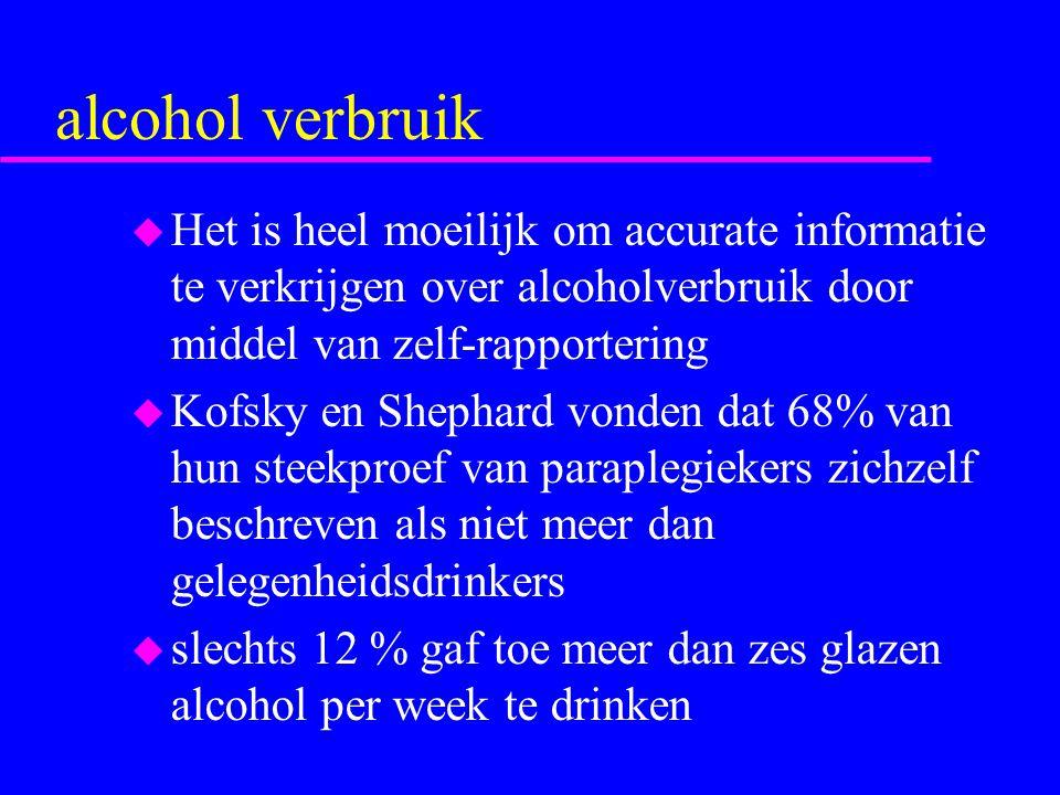 alcohol verbruik Het is heel moeilijk om accurate informatie te verkrijgen over alcoholverbruik door middel van zelf-rapportering.