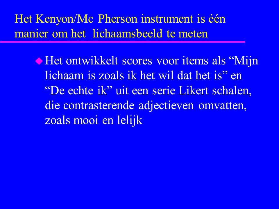Het Kenyon/Mc Pherson instrument is één manier om het lichaamsbeeld te meten