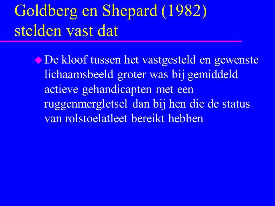 Goldberg en Shepard (1982) stelden vast dat