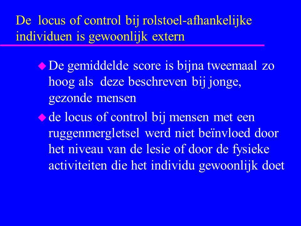 De locus of control bij rolstoel-afhankelijke individuen is gewoonlijk extern