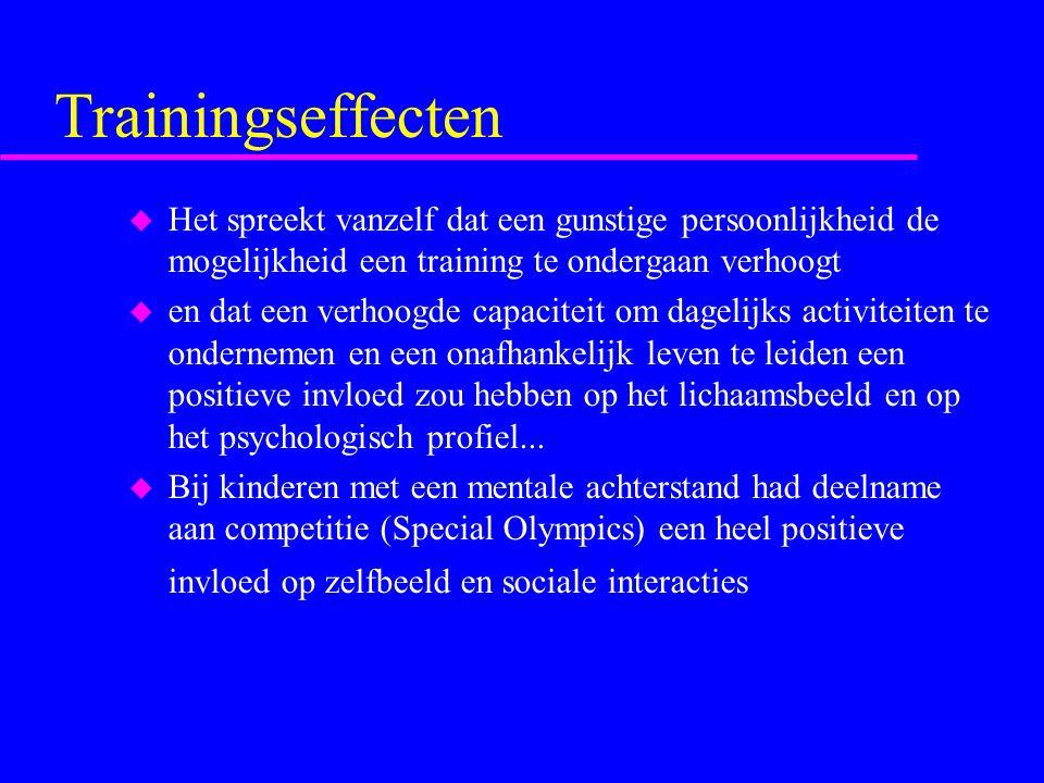 Trainingseffecten Het spreekt vanzelf dat een gunstige persoonlijkheid de mogelijkheid een training te ondergaan verhoogt.