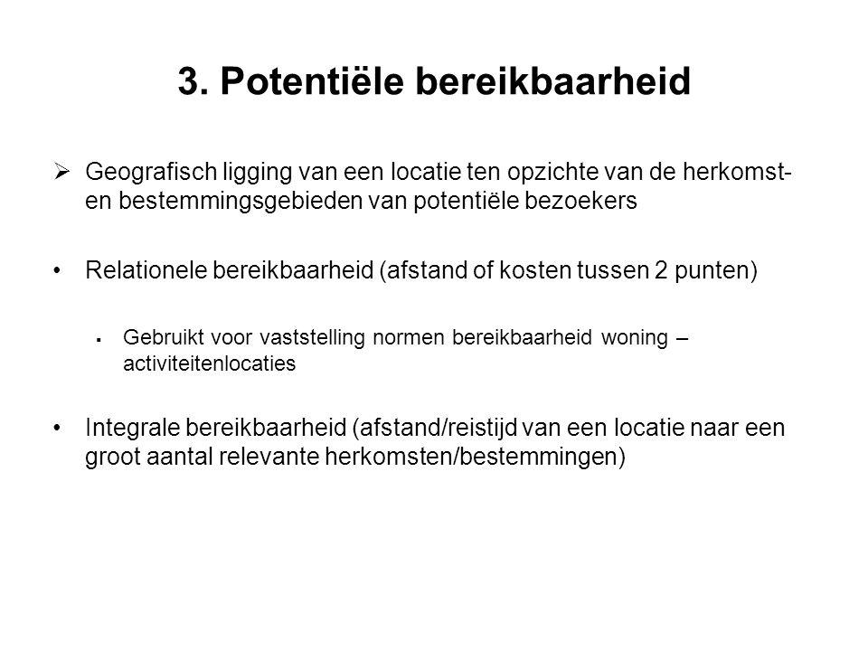 3. Potentiële bereikbaarheid