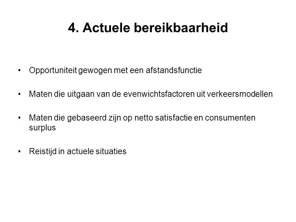 4. Actuele bereikbaarheid